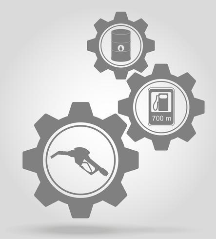 illustrazione di vettore di concetto di meccanismo di ingranaggio del carburante