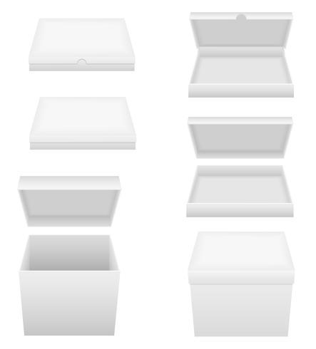 illustrazione vettoriale di imballaggio scatola bianca
