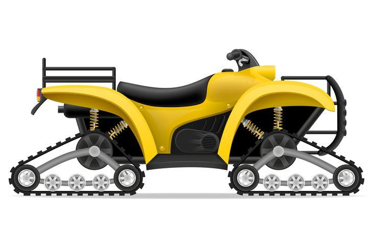 motociclo di atv su quattro piste fuori dall'illustrazione di vettore delle strade