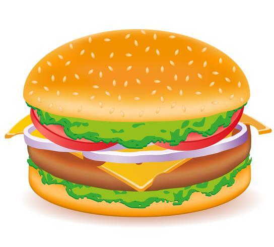 illustrazione vettoriale di cheeseburger