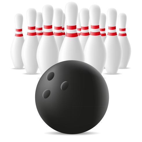 illustrazione di vettore di bowling e birillo