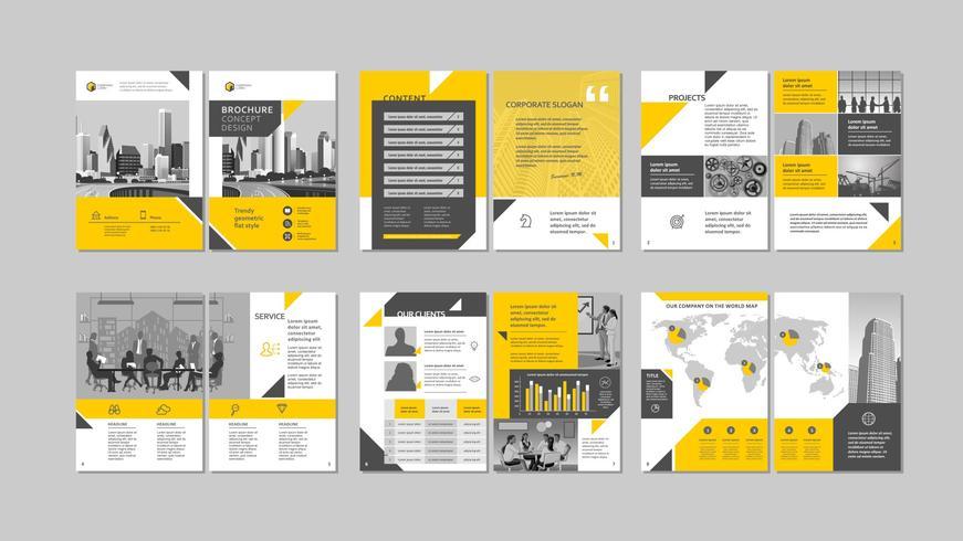 Brochure design creativo. vettore