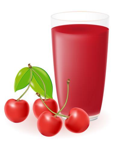 illustrazione vettoriale di succo di ciliegia