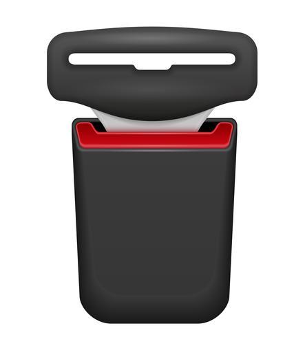 cintura di sicurezza per la sicurezza in caso di illustrazione vettoriale incidente