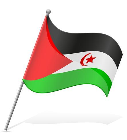 bandiera dell'illustrazione araba Saharawi Repubblica Democratica vettoriale