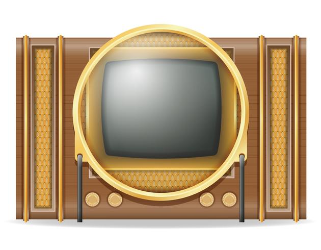 vecchia retro illustrazione d'annata di vettore delle azione dell'icona della TV