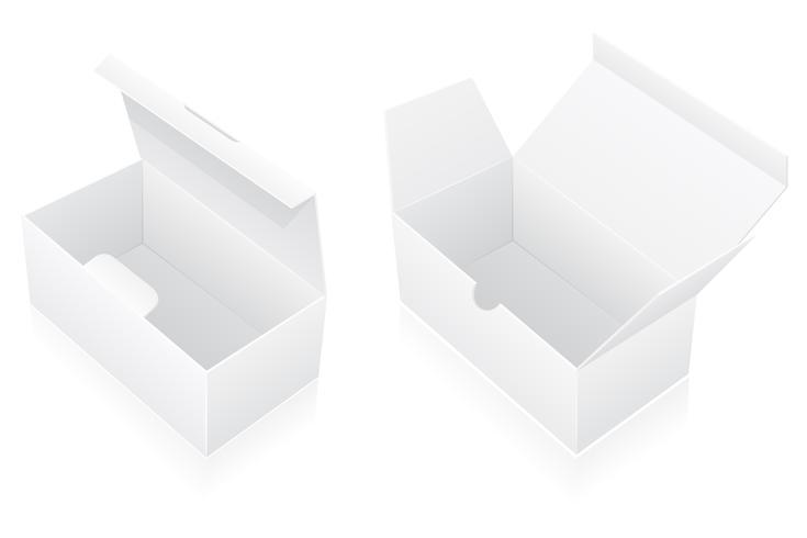 illustrazione vettoriale di imballaggio casella