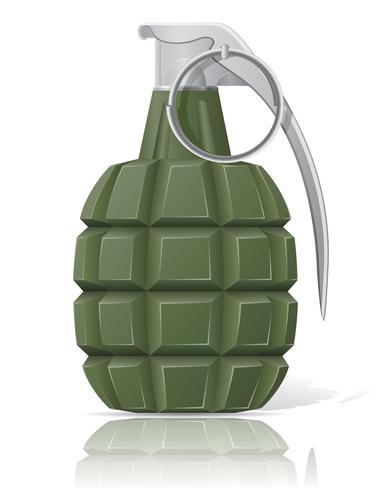 illustrazione vettoriale di granata a mano