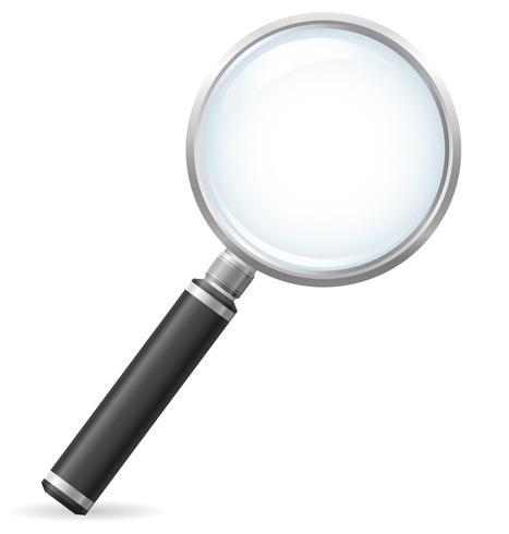 illustrazione vettoriale di lente d'ingrandimento