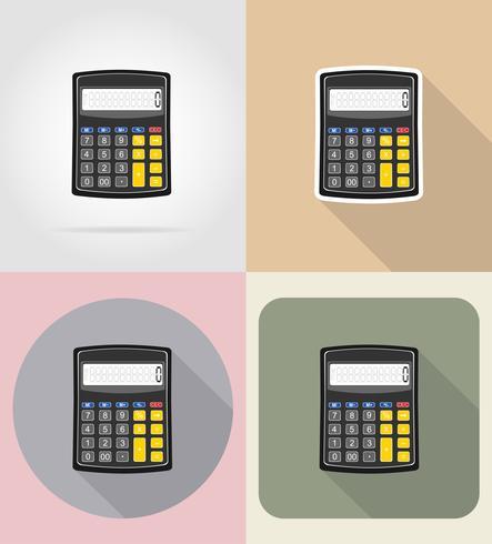 illustrazione piana di vettore delle icone del calcolatore