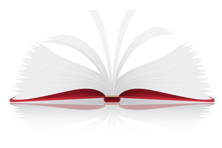 illustrazione vettoriale di libro aperto