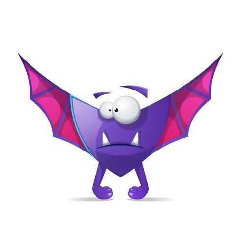 Pipistrello, vampiro - personaggi horror dei cartoni animati. vettore