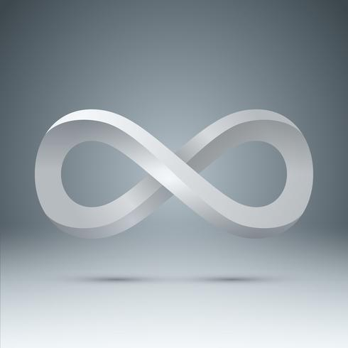 3d Infinity - icona realistica. vettore