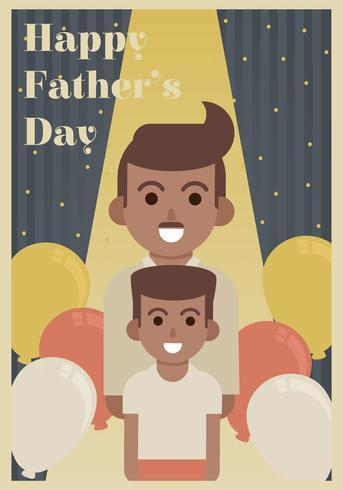 Disegno di vettore di festa del papà felice