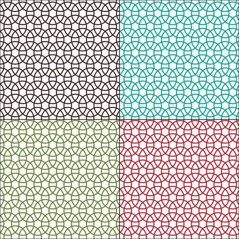 motivi geometrici cerchi ad incastro senza soluzione di continuità vettore