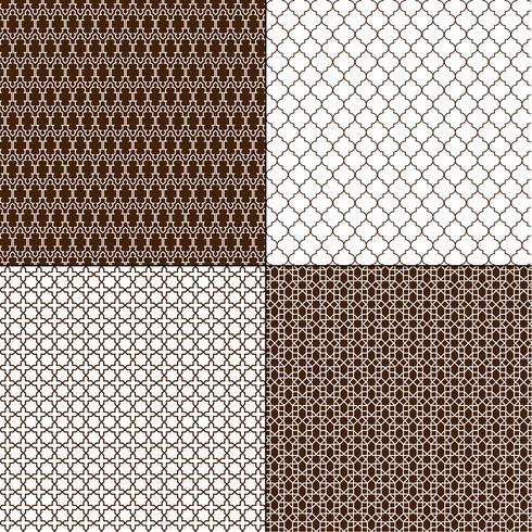 motivi geometrici marocchini marroni vettore
