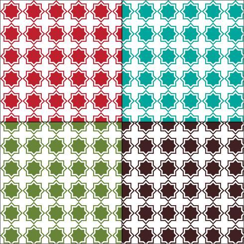 Modelli senza soluzione di piastrelle arabesco marocchino vettore