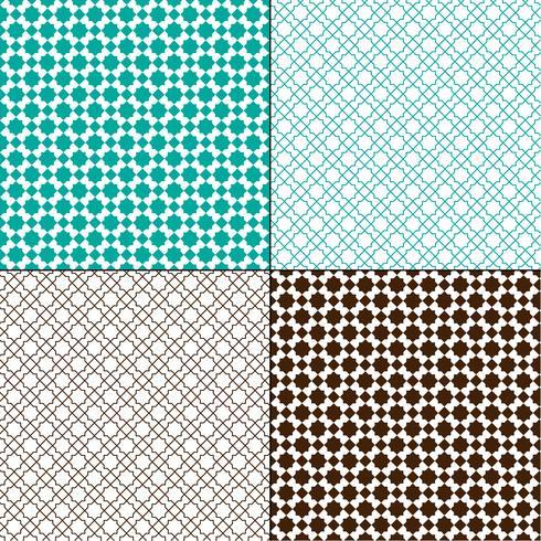 motivi geometrici marocchini blu turchese e marrone vettore