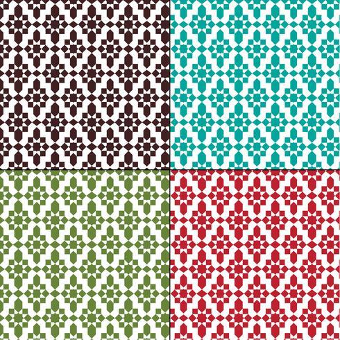 modelli geometrici marocchini senza soluzione di continuità vettore