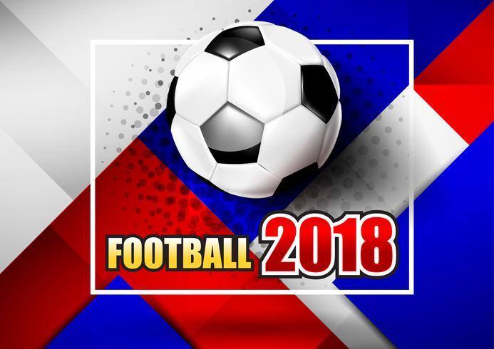 2018 testo di calcio di calcio 001 vettore