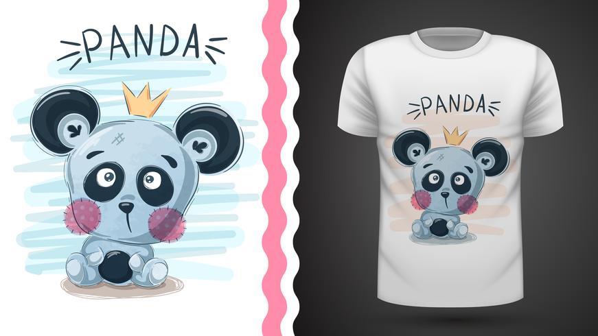 Panda carino - idea per la stampa vettore