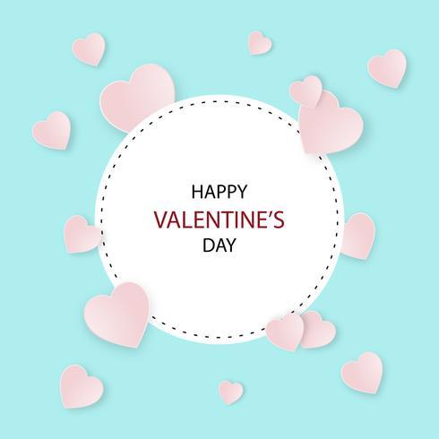 Illustrazione felice creativa di vettore della cartolina di San Valentino.