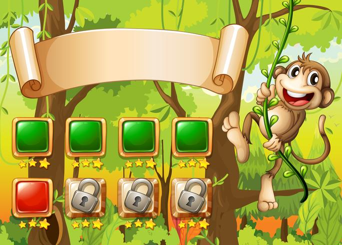 Design di gioco Monkey vettore