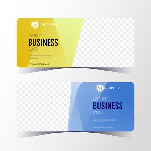 Modello astratto variopinto dell'insegna di affari, insieme di carte orizzontale dell'insegna. vettore