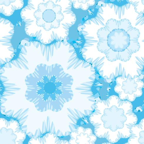 Ornamento geometrico floreale astratto. Modello linea senza soluzione di continuità vettore
