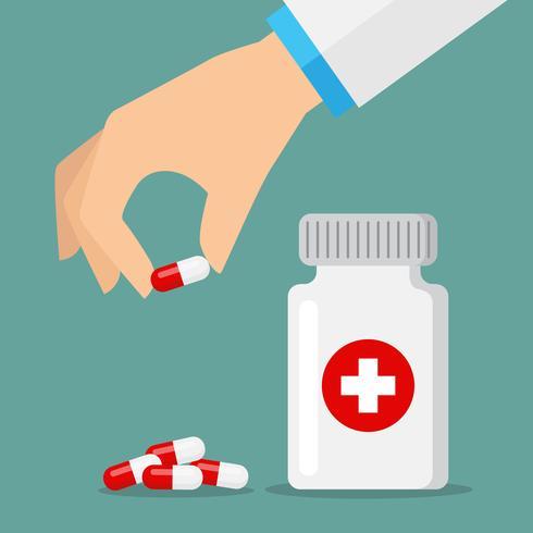 Icone di pillole rosse e bianche vettore
