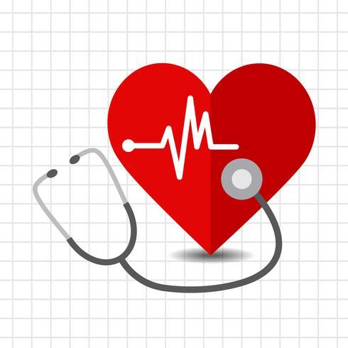 Icona di cura del cuore vettore