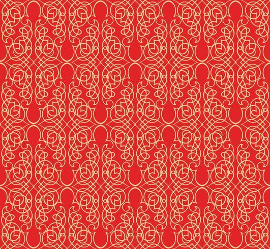 Swirl motivo floreale. Ornamento astratto Broccato sfondo senza soluzione di continuità vettore