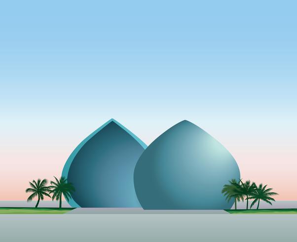 Baghdad, Iraq. Skyline della città, monumento al-Shaheed punto di riferimento. vettore
