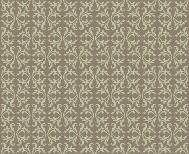 Modello di linea orientale Abstract floral ornament Swirl tessuto di fondo vettore