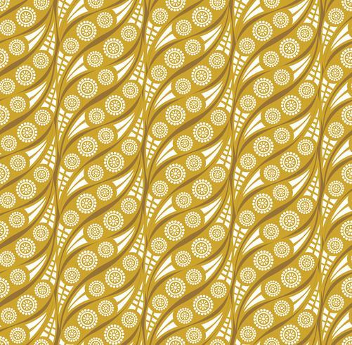 Oriental wave pattern Astratto ornamento floreale Swirl tessuto di fondo vettore