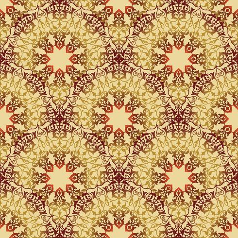 Ornamento floreale arabo di linea di turbinio. Reticolo senza giunte del fiore orientale vettore