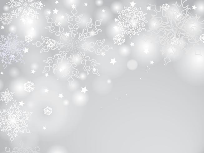Christmas Winter Holiday background Sfocatura leggera, neve saluto design vettore