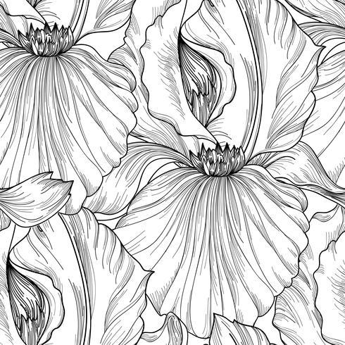 Motivo floreale senza soluzione di continuità. Sfondo di fiori Fiorisce il giardino primaverile vettore