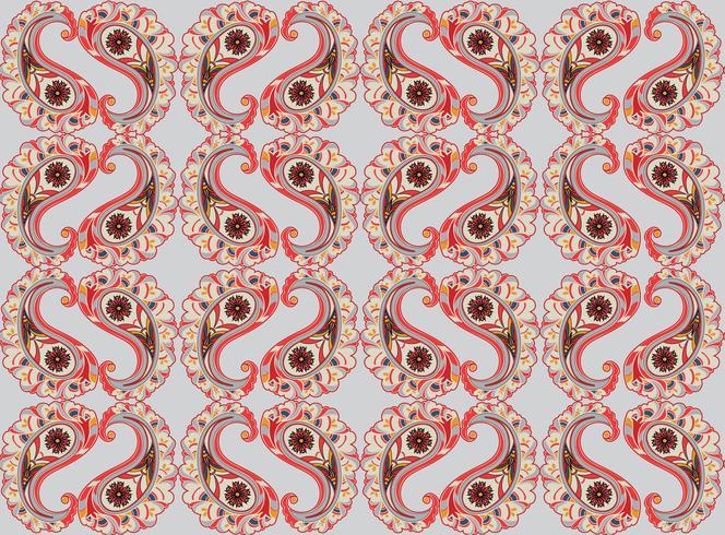 Floral background senza soluzione di continuità. Ornamento orientale Motivo floreale vettore