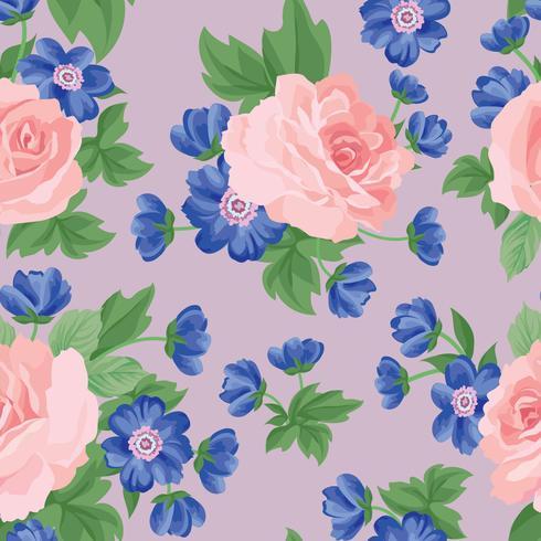 Motivo floreale senza soluzione di continuità. Sfondo di fiori Trama del giardino vettore
