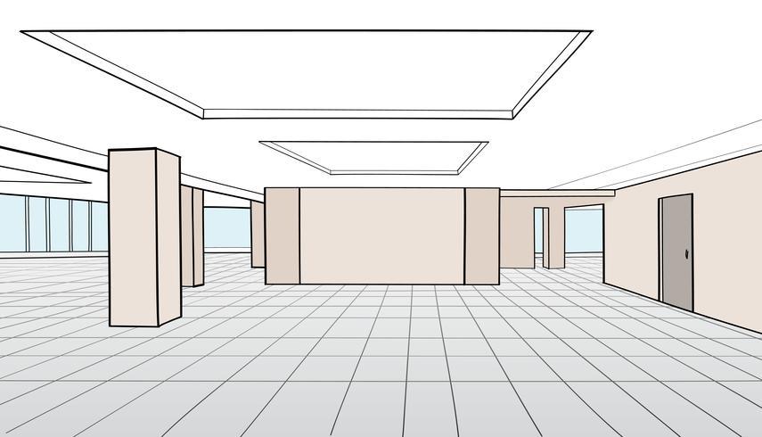 Stanza dell'ufficio interno. Sala conferenze, ufficio open space vettore