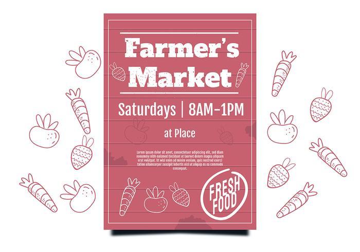 Flyer Design Farmer's Market vettore