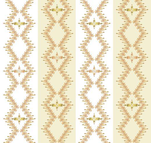 Motivo floreale foglie Sfondo senza soluzione di continuità Ornamento di foglia di ricciolo di natura vettore