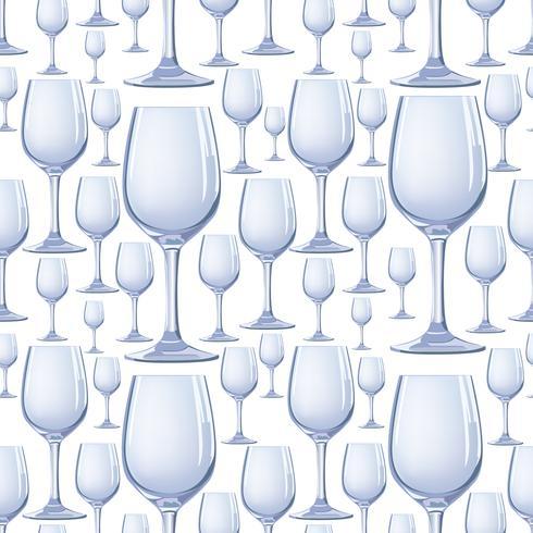 Modello senza cuciture di vetro di vino. Bere vino sfondo. Vinary party decor vettore