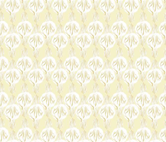 Astratto motivo floreale senza soluzione di continuità. Ornamento geometrico di fiori. F vettore