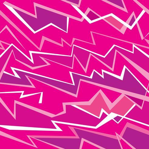 Linea astratta senza giunte pttern. Ikat onda rosa senza soluzione di continuità geometrica vettore