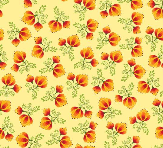 Motivo floreale senza soluzione di continuità. Fiori ornamentali in stile russo vettore