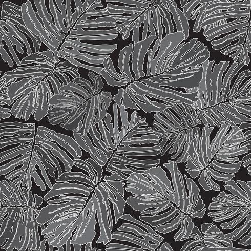 Motivo floreale astratto Foglie di palma floreali Pianta senza cuciture vettore