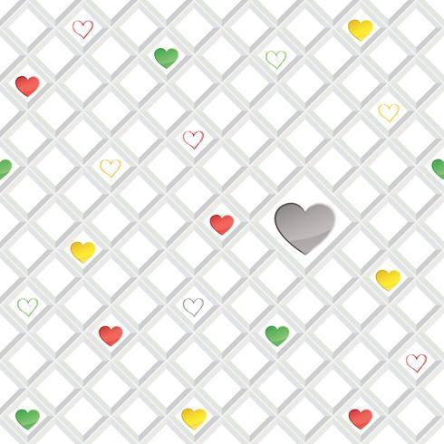 Modello senza cuciture del cuore di amore ornamento geometrico di giorno di San Valentino vettore