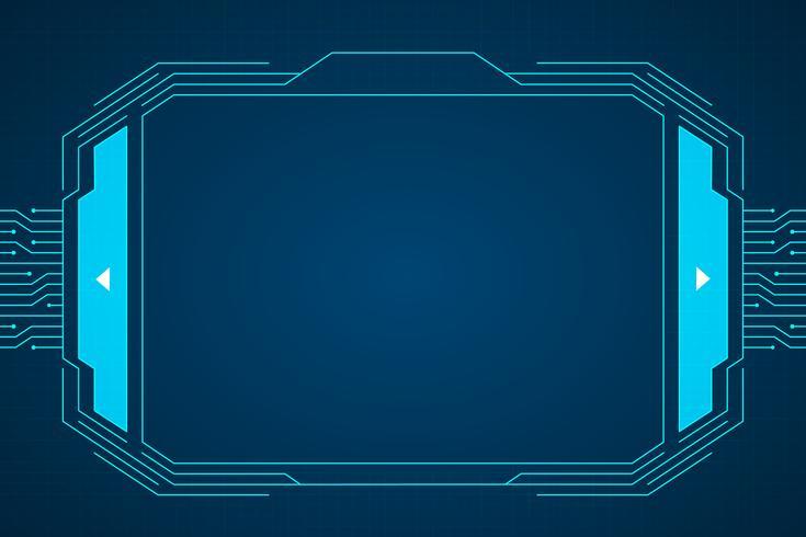 Interfaccia tecnologia circuito blu hud vettore
